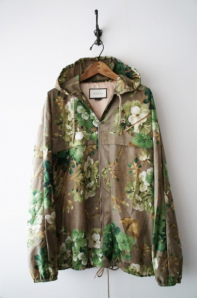 Blooms print nylon windbreaker