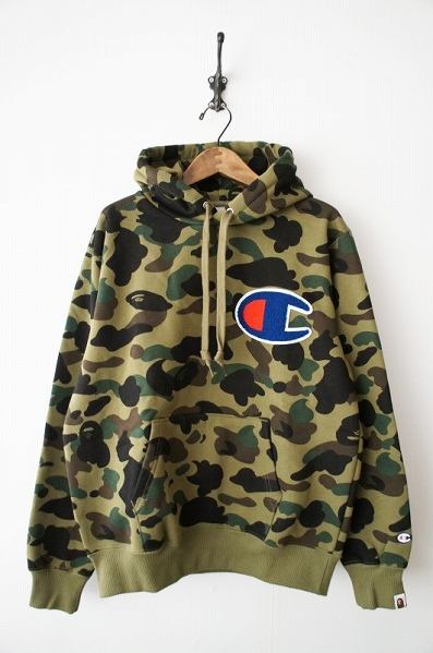 A BATHING APE 1ST CAMO PULLOVER HOODIE