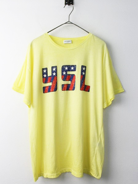 Saint Laurent ParisYSL プリント Tシャツ